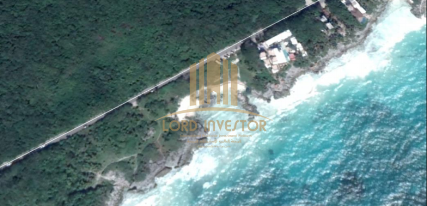 Land of 14,400 M2 on the coast of Tulum Mexico Riviera Maya