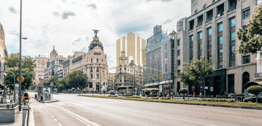 Residential building located in a very commercial and central area of ​​Madrid.